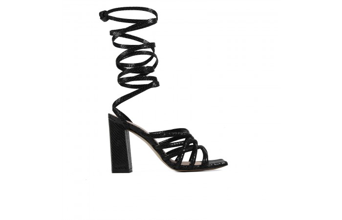 Black Coco Strappy Sandal