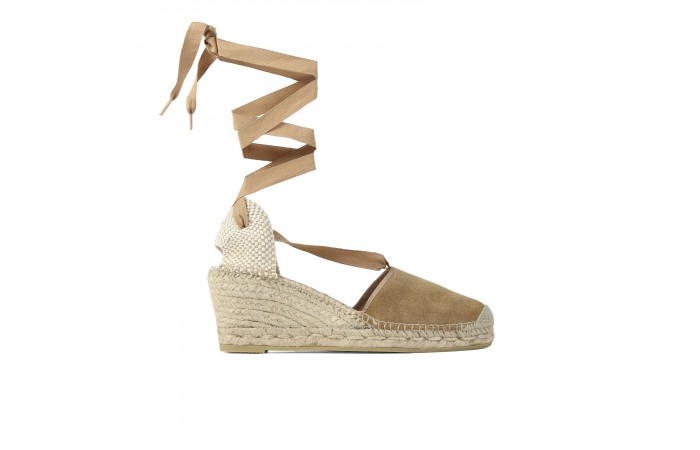 Beige Esparto Wedge Strap...