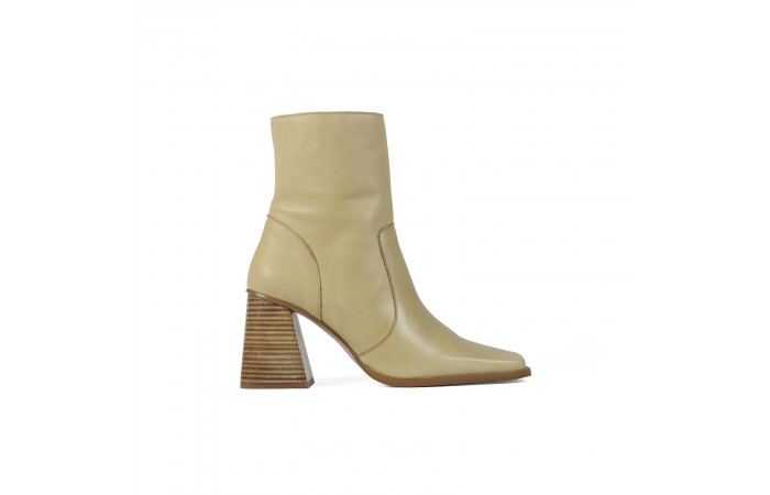 Beige Florence ankle boots