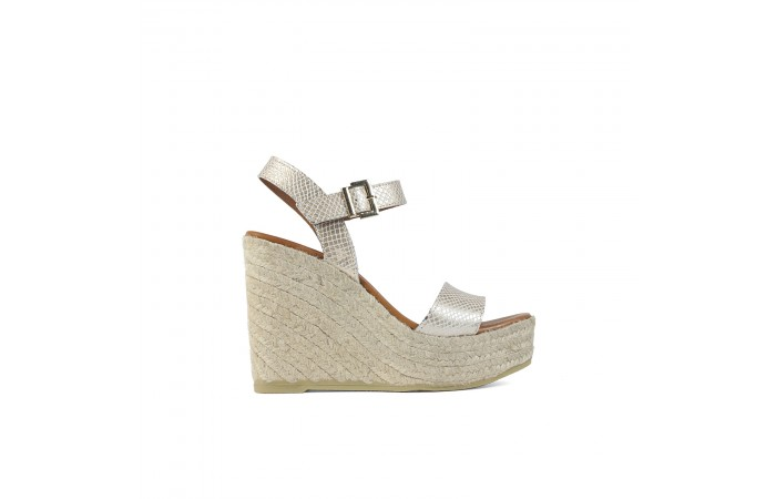 Gold coco wedge platform...