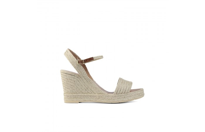 Natural Esparto Wedge Sandal