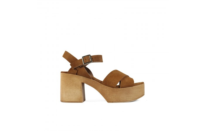 Brown Wooden Austin sandal