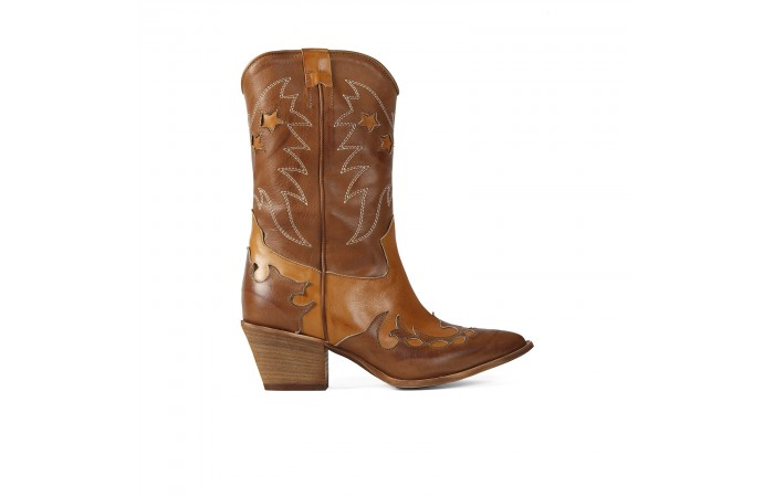Brown Cowboy Texas Boots