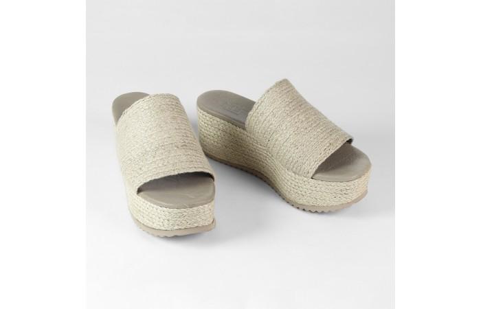 Yute Esparto Platform Sandal