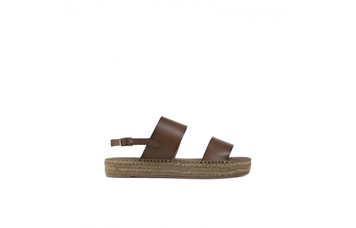 Brown esparto Flat Sandal