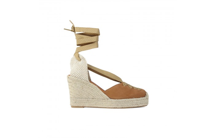 Camel Esparto Wedge Strap...