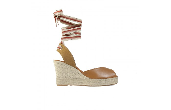 Brown Esparto Wedge Strap...