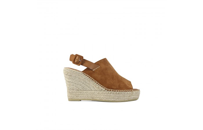Brown Esparto Platform sandal
