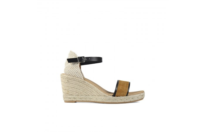 Camel strap wedge esparto...