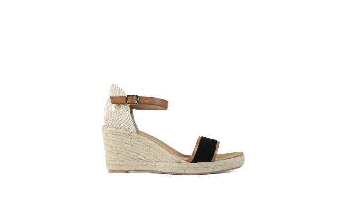 Black strap wedge esparto...