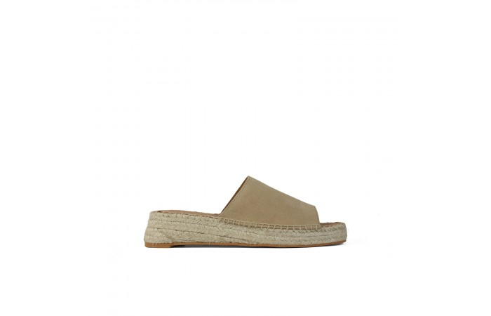 Beige platform koa sandals