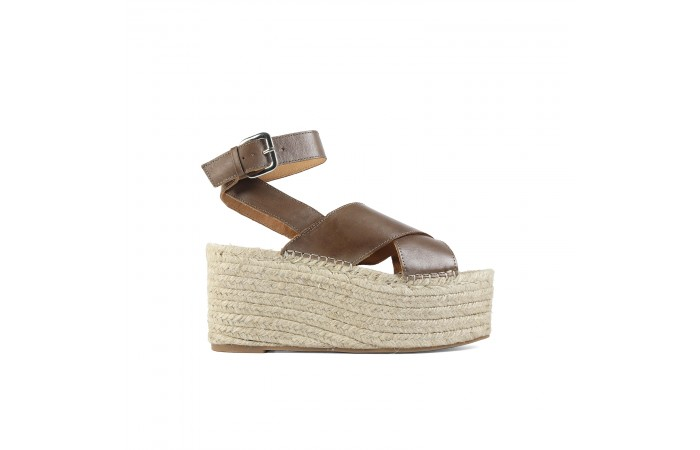 Taupe Cross Sandal Esparto...