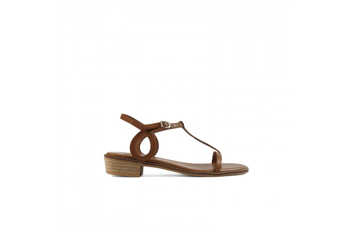 Leather waves Nora Sandals