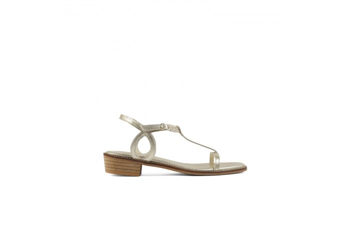 Gold waves Nora Sandals
