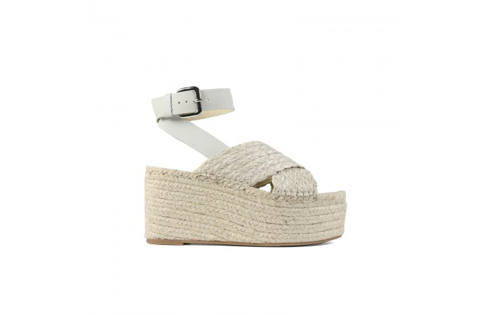 White Cross Sandal Esparto...