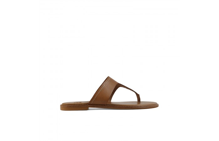 Leather flat Anges sandal