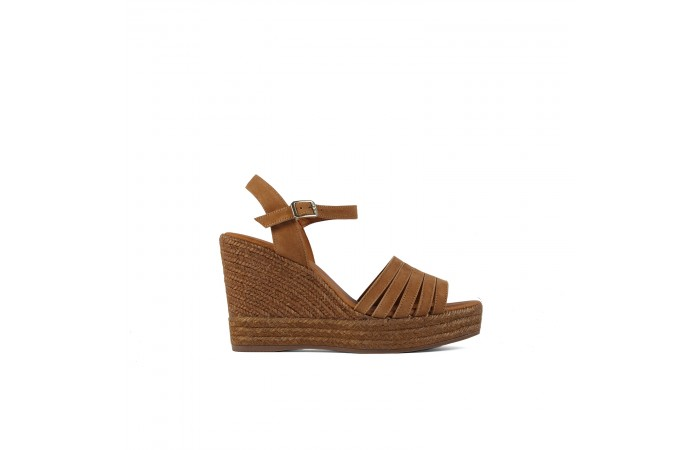 Camel wedge Karen Sandals