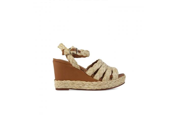 Leather wedge Valeria sandals