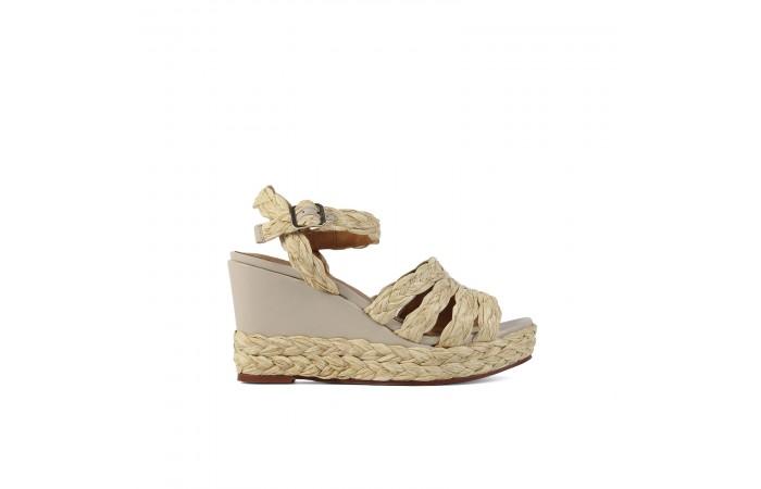 Nude wedge Valeria sandals