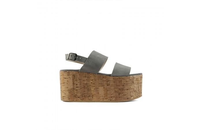 Gray platform Atenea Sandals