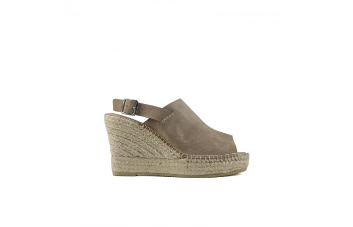 Beige Esparto Platform sandal