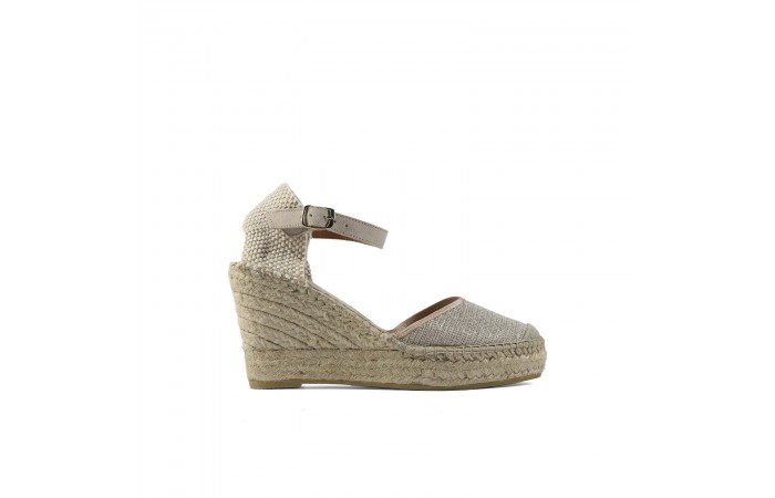 Glitter esparto wedge...