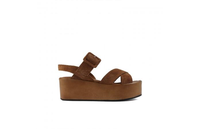 Brown platform Paloma sandals