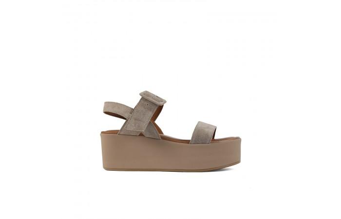 Taupe platform Paloma sandals