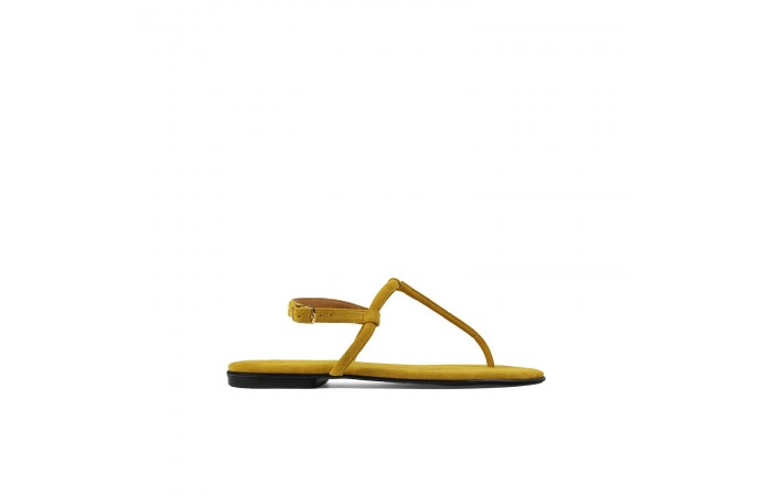 Yellow T shape greta sandals