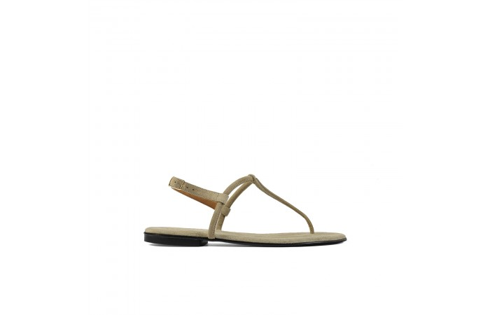 Beige T shape greta sandals