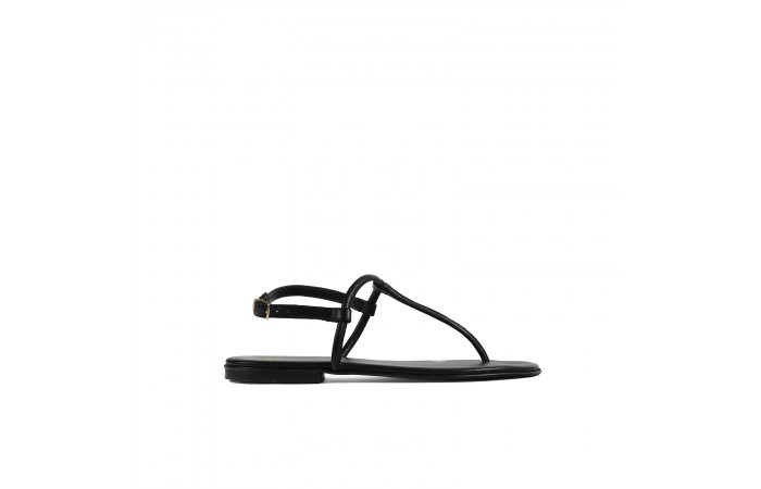 Black T shape greta sandals