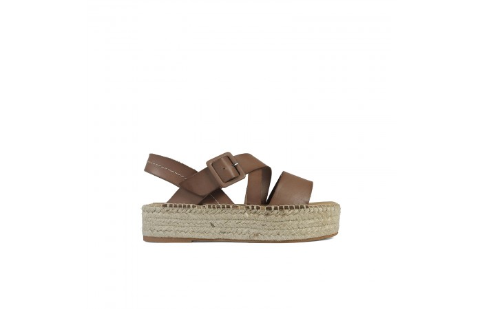 Brown esparto Noa sandals
