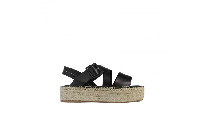 Black esparto Noa sandals