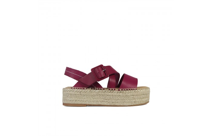 Cherry esparto Noa sandals
