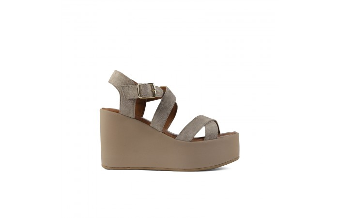 Taupe Wedge Paloma Sandals