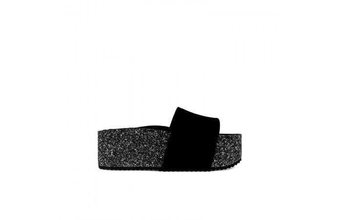 Black glitter platform Arizona