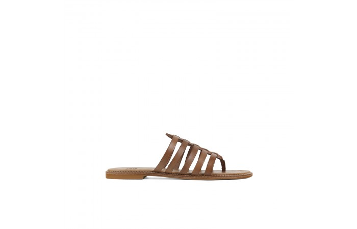 Brown roman Flat Sandal