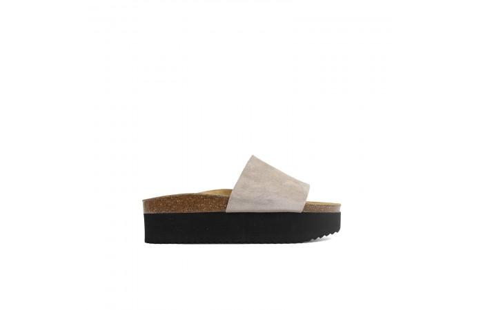 Taupe Platform Monk sandal