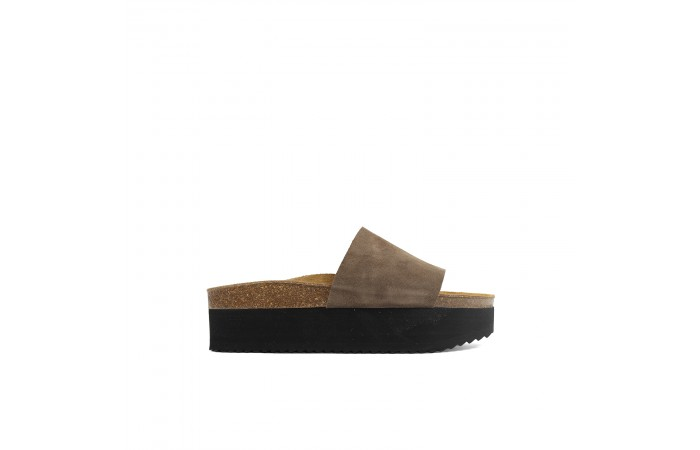 Brown Platform Monk sandal