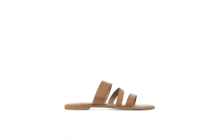 Camel medea flat sandal