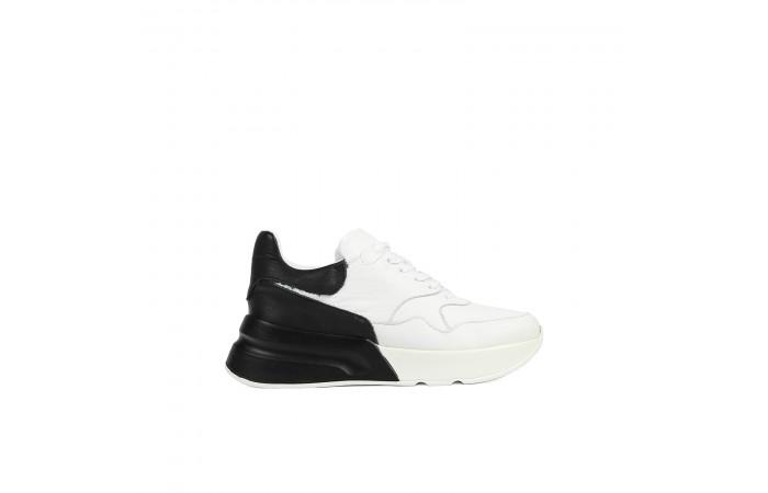 Black Platform Roma Sneaker