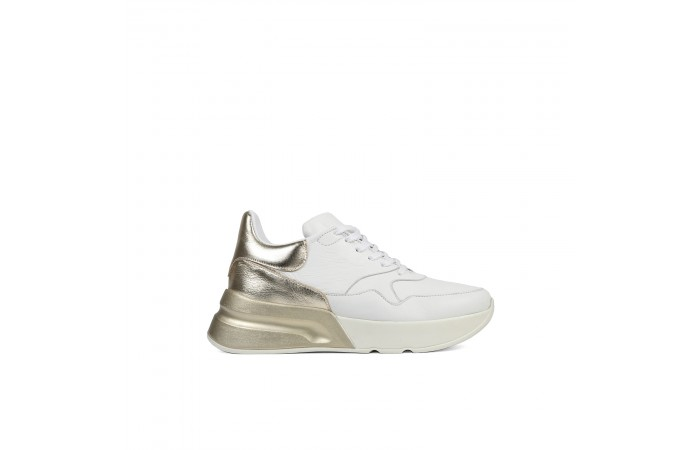 Gold Platform Roma Sneaker