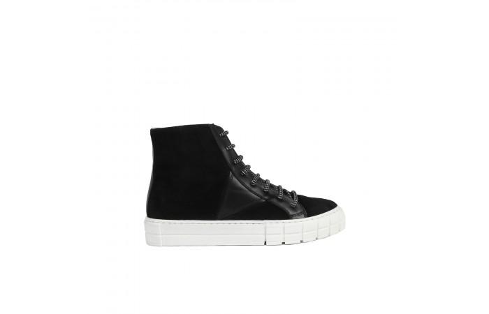 Black Verona Sneaker Boots