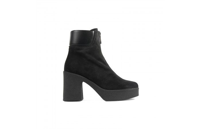 Gray zip Valerie Boots