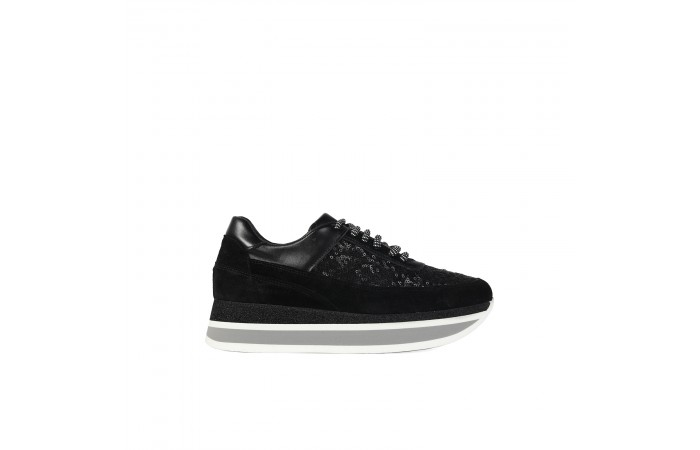 Black sequins berlin sneaker