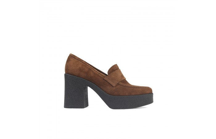 Brown Platform Abby Moccasin