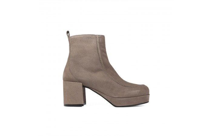 Beige Platform Ahsley Boots