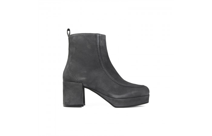 Gray Platform Ahsley Boots