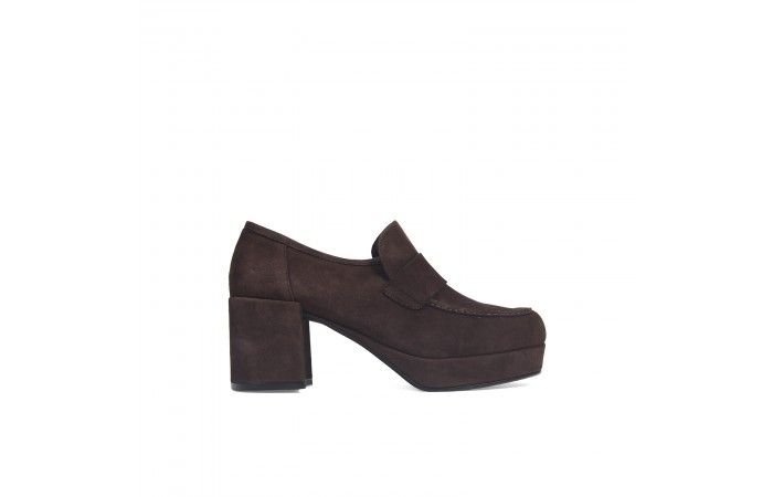 Brown Platform moccasin Iana