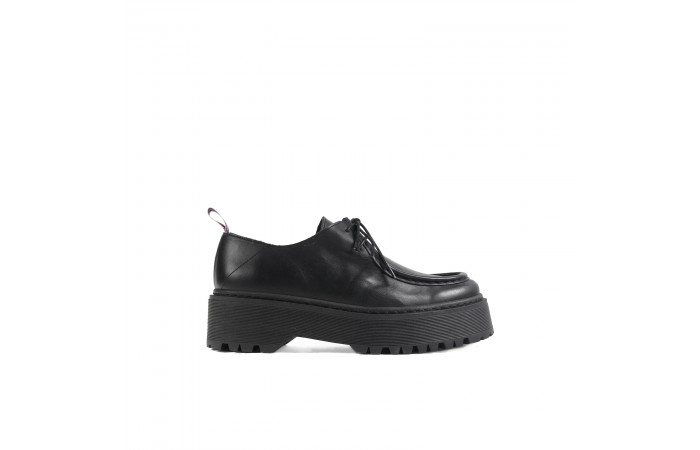 Black leather stark blucher